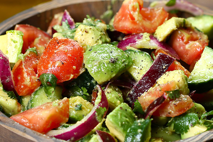 Avocado, Cucumber, and Tomato Salad