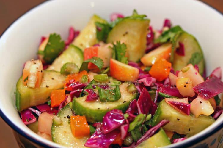 Apple, Orange, and Cucumber Salad